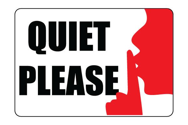Quiet please clipart free.