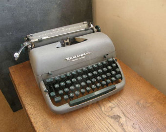 Remington typewriter.