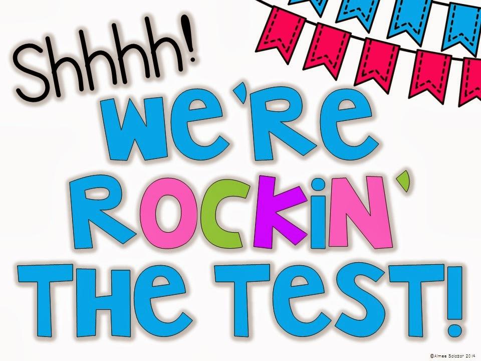 Quiet Please Printed Teacher sign we're acing a test, classroom.