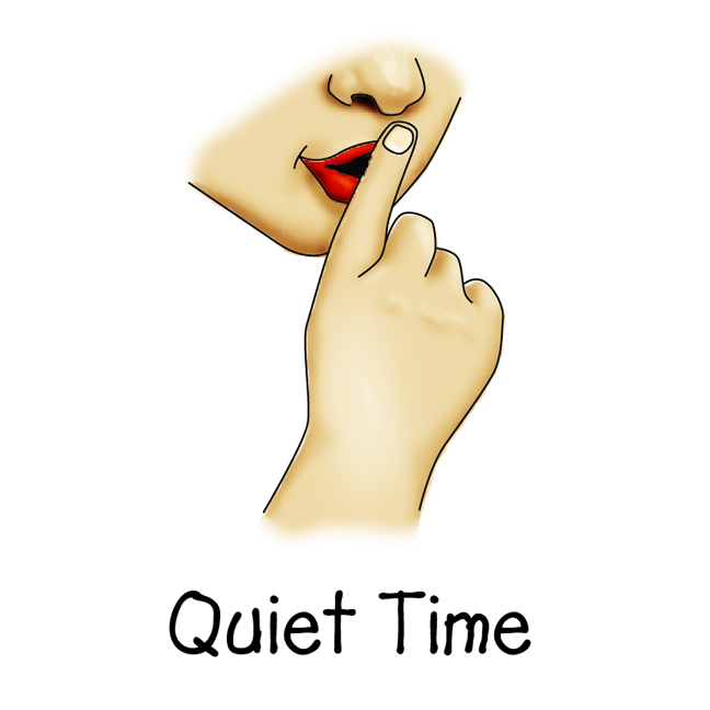 Quiet voice clip art.