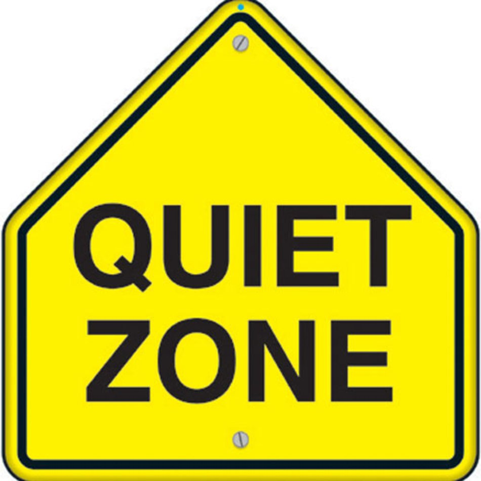Quiet Zone Signs Clip Art N3 free image.