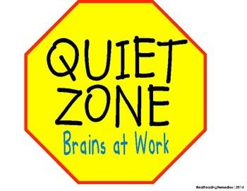 Quiet Zone Clipart.