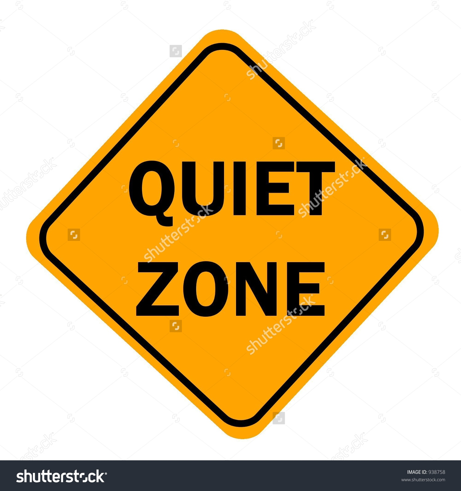 Quiet Zone Sign Isolated On White Stock Illustration 938758.