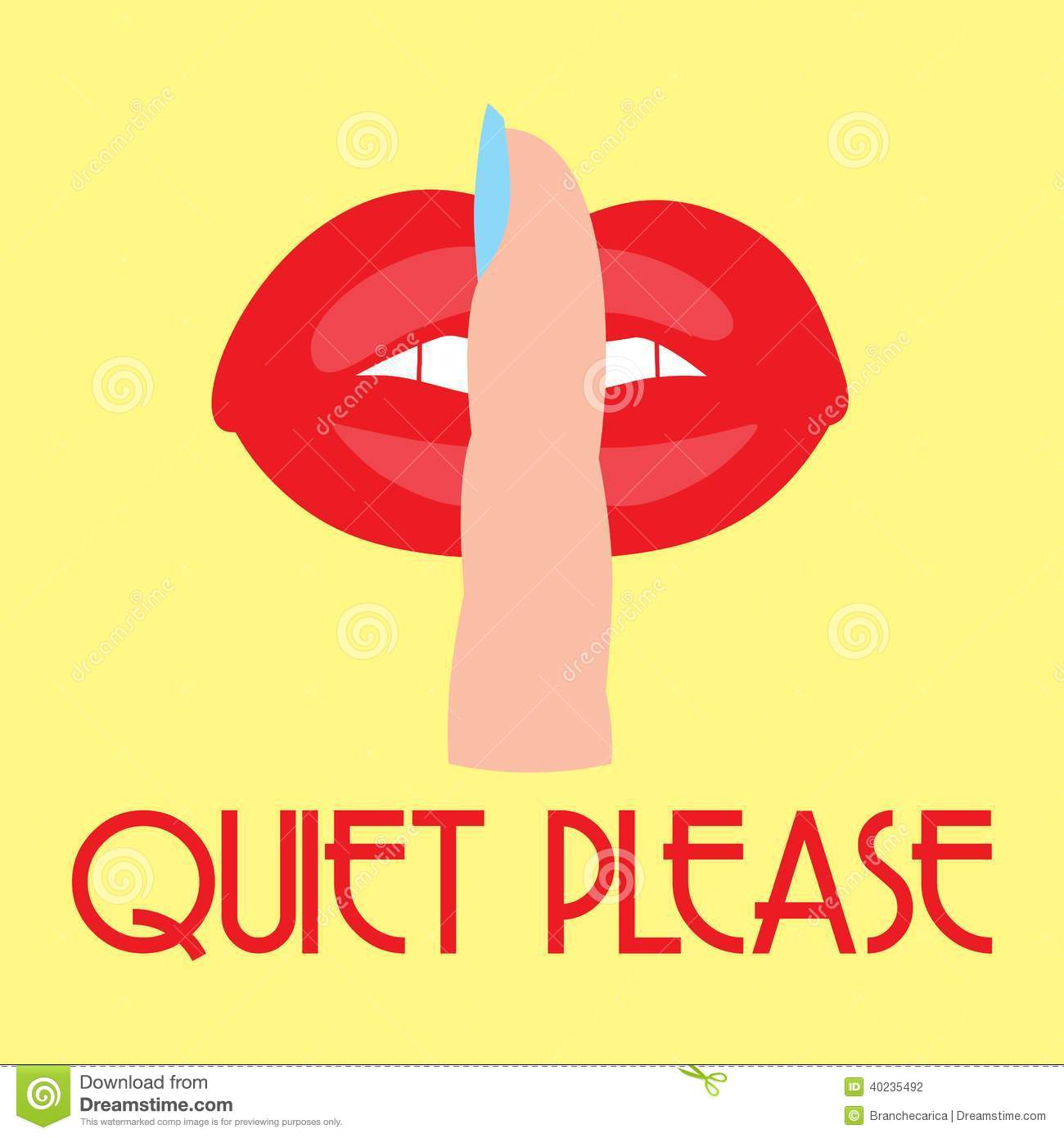 Quiet Please Stock Images.