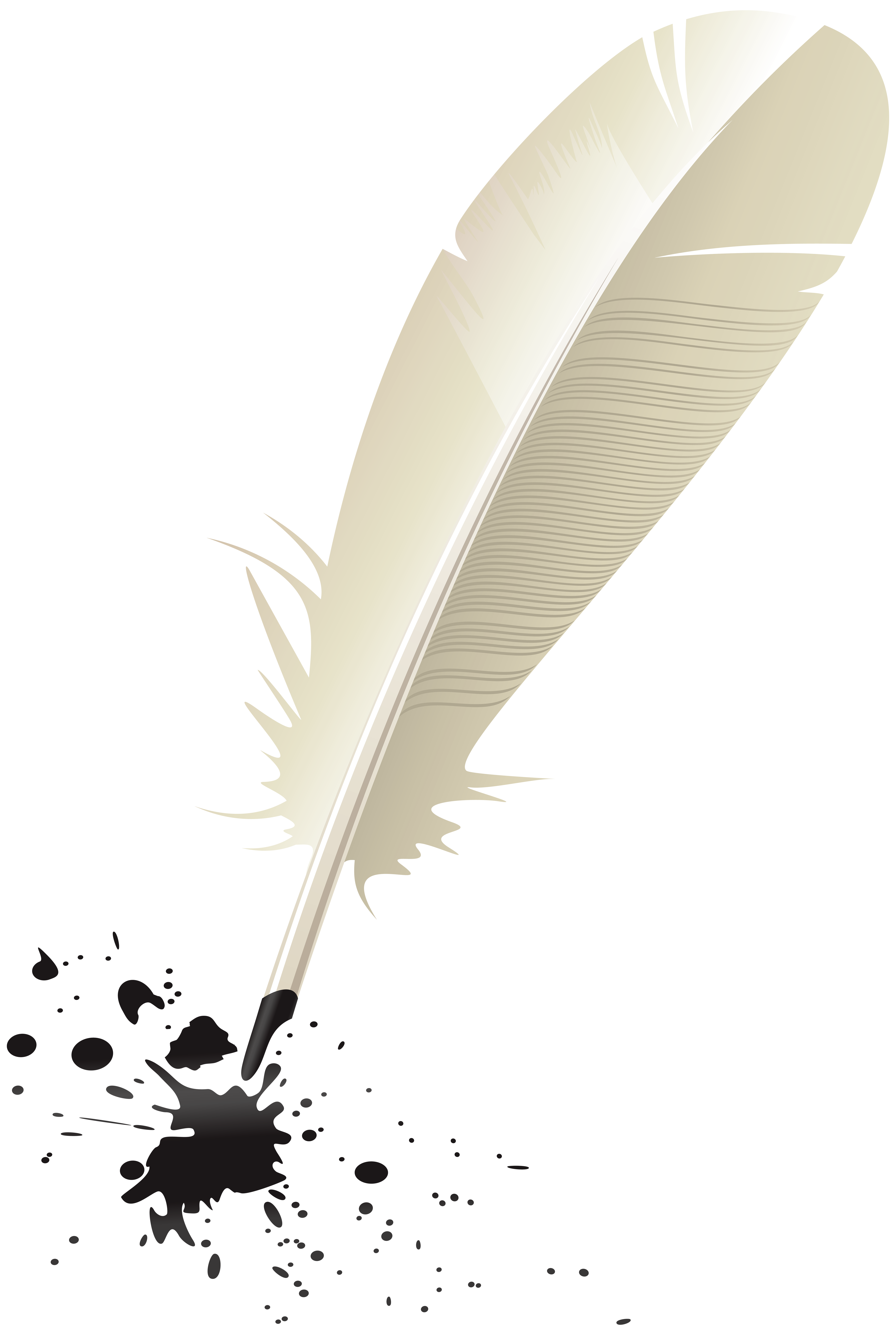 Quill and Ink PNG Clip Art Image.