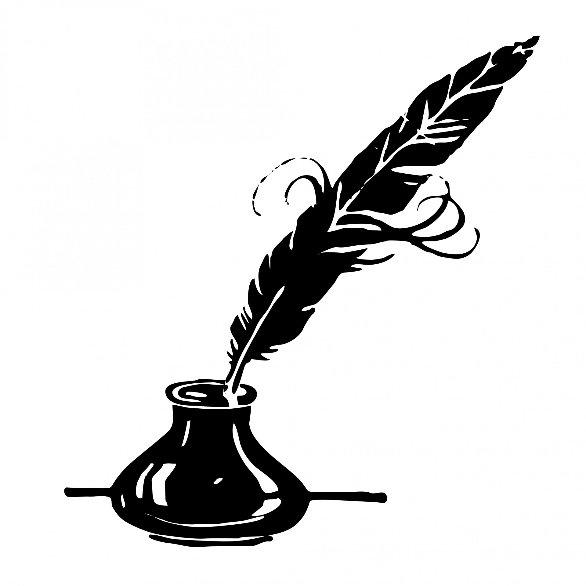 Quill Clipart Black And White.