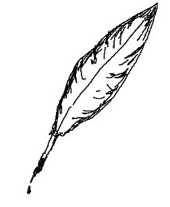 Clipart quill.