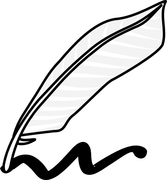 Writing Quill Clip Art at Clker.com.
