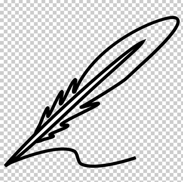 Feather Quill Black And White PNG, Clipart, Artwork, Black.