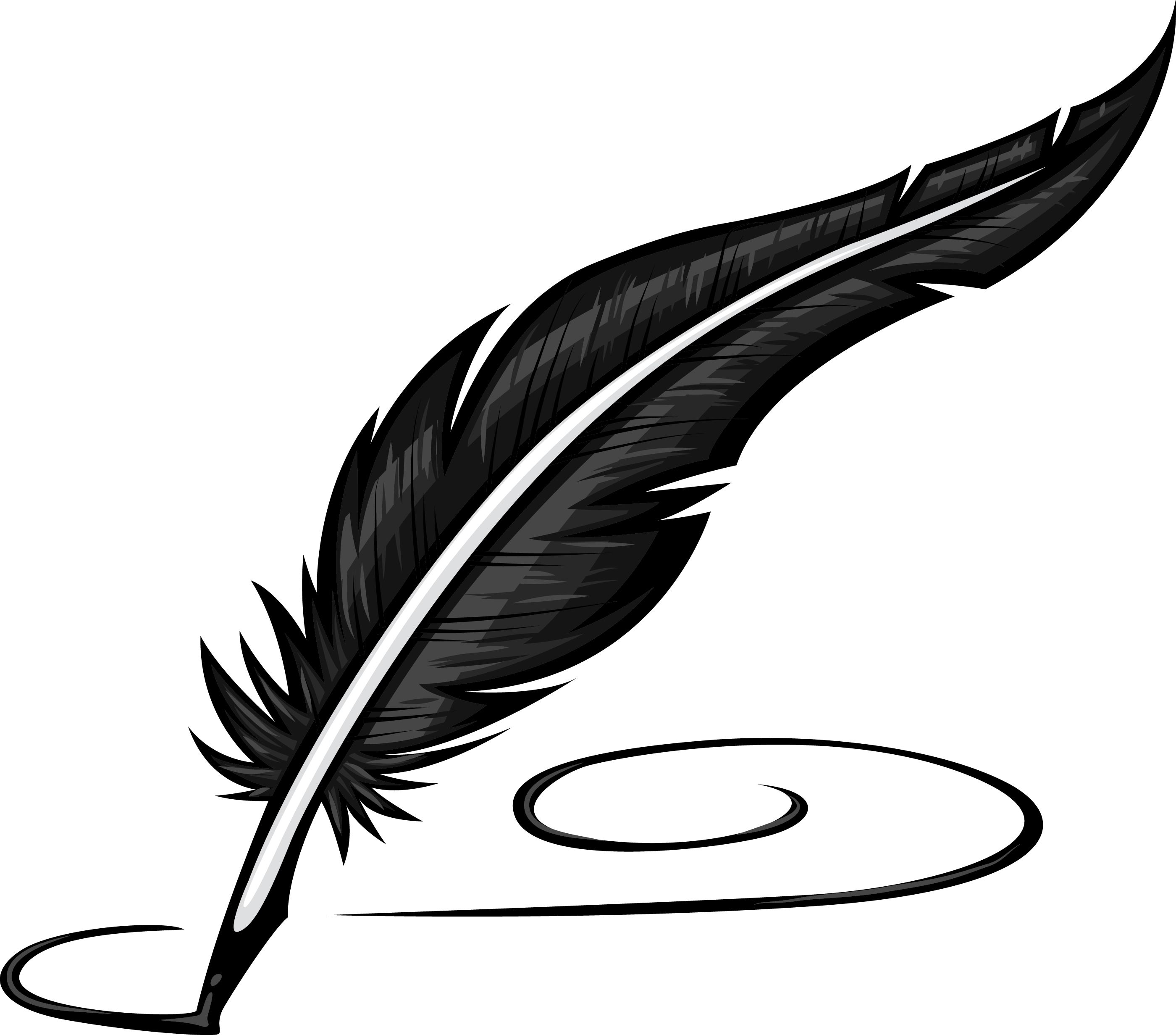 Quill clipart black and white 6 » Clipart Station.