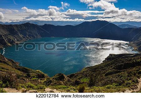 Stock Photo of Quilotoa Crater Lake, Ecuador k22012784.