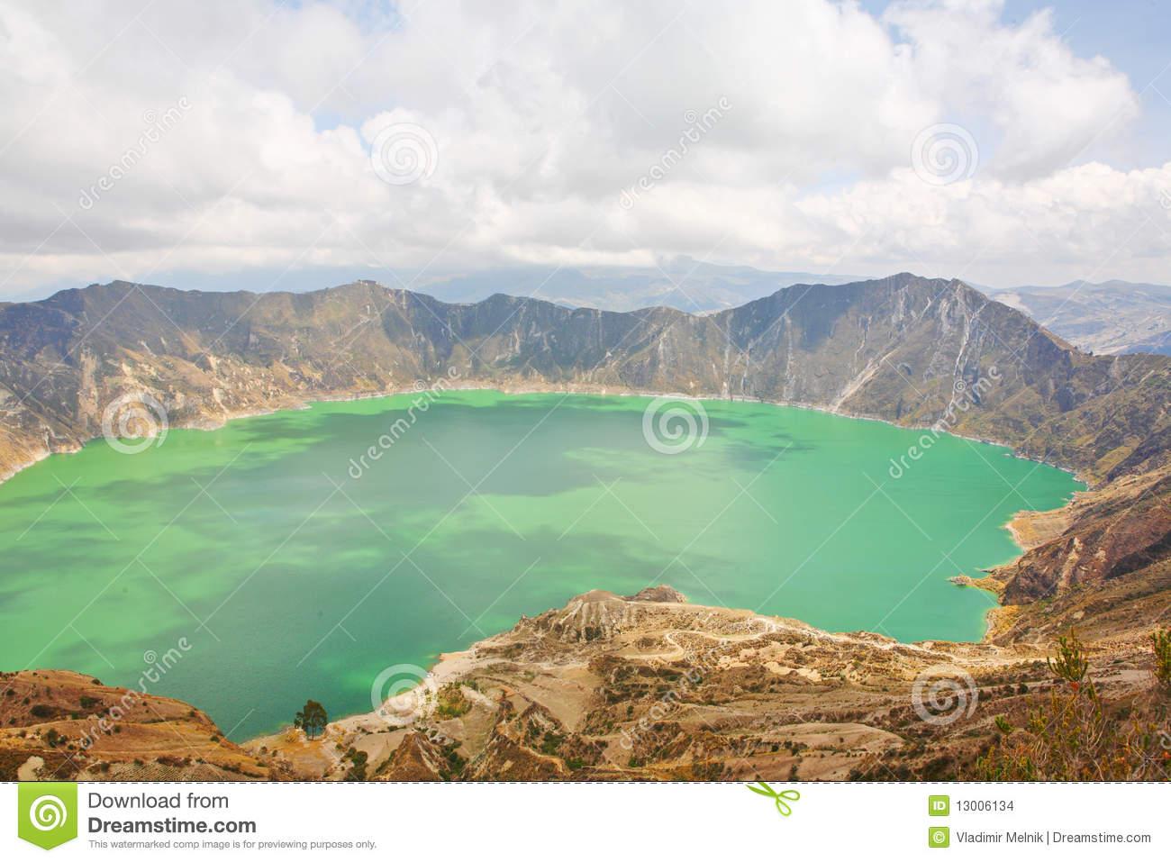 Quilotoa Lagoon In Ecuador Stock Images.