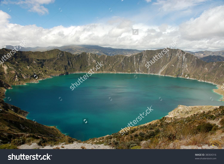 Quilotoa Lagoon In Ecuador. Stock Photo 38304316 : Shutterstock.