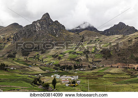 """Stock Photograph of """"Mountain landscape along the Quilotoa Loop."""
