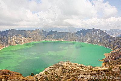 Laguna Quilotoa In Ecuador. Royalty Free Stock Photography.
