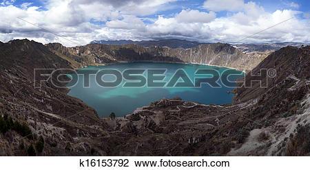 Stock Photo of Quilotoa caldera k16153792.