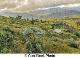Stock Images of Andean Rural Scene Quilotoa, Ecuador.