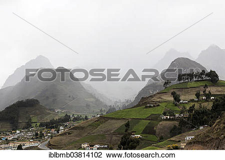 """Stock Photo of """"Mountain landscape along the Quilotoa Loop hiking."""
