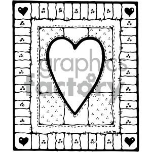 black white heart design clipart. Royalty.