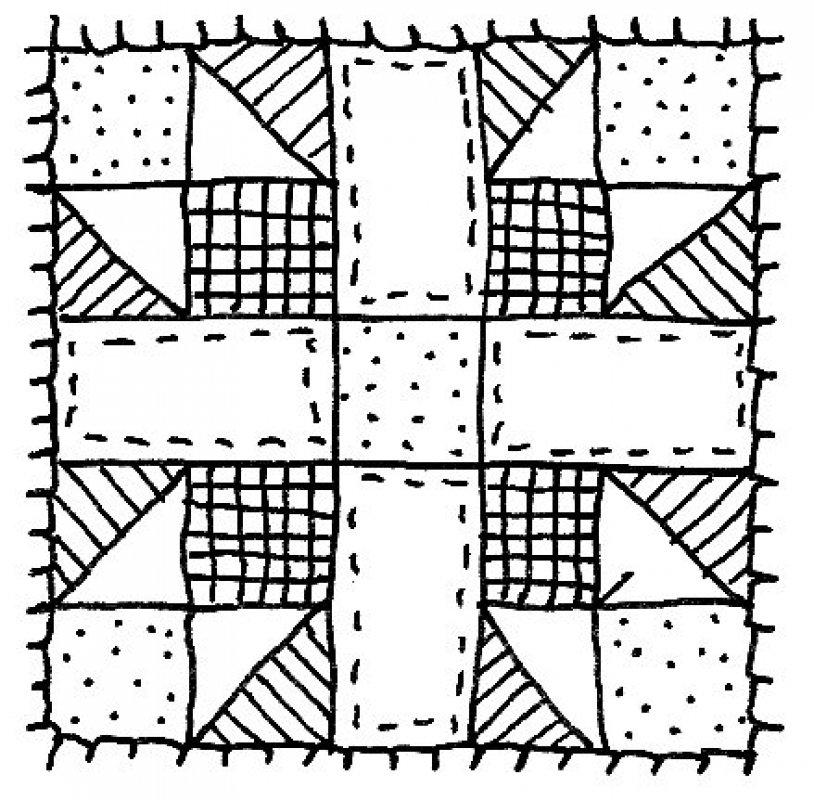 Quilt square clip art.