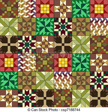 Quilted Background Clipart.