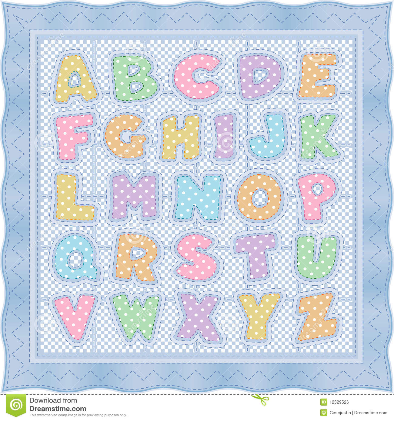 Baby Quilt Clipart.
