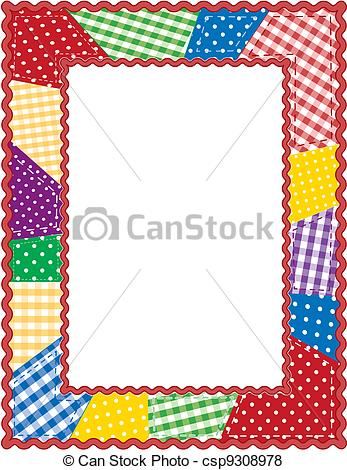 Vector of Patchwork Quilt Frame.