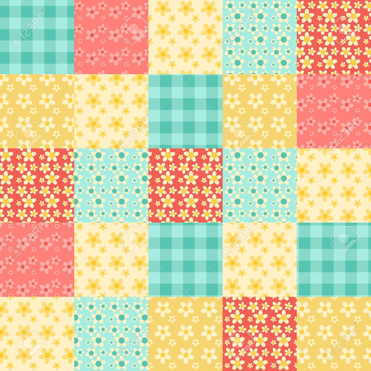 Quilted background cli...