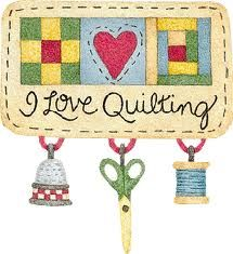 Quilted heart clipart.
