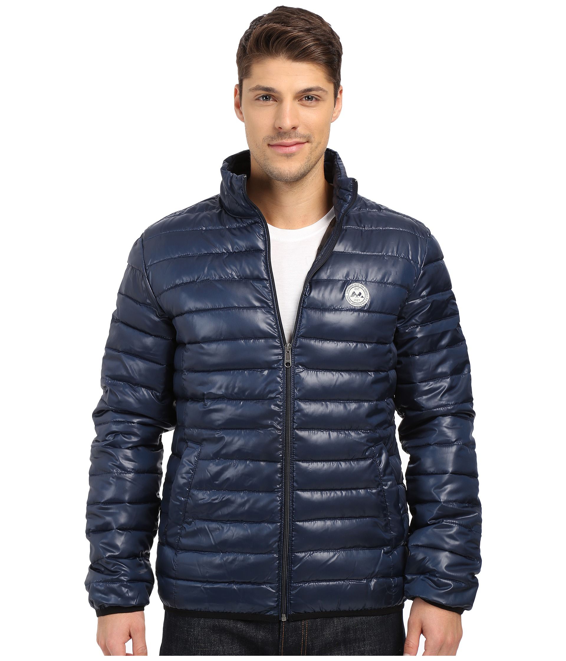 Lindbergh Quilted Jacket in Blue for Men.