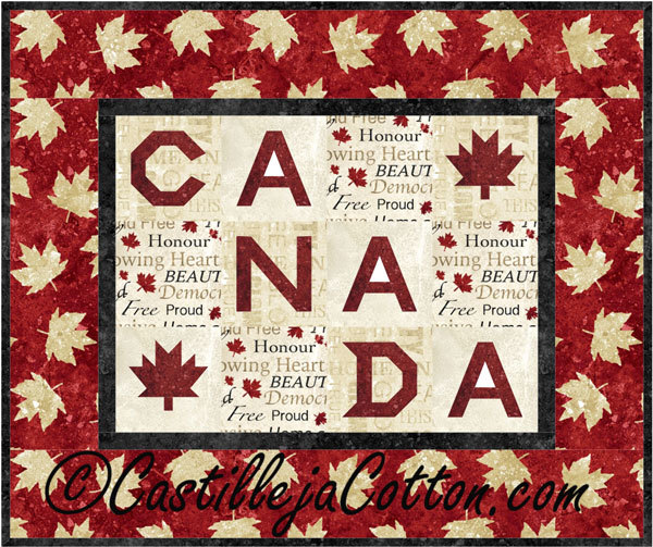 Canadian Maple Leaf Quilt.