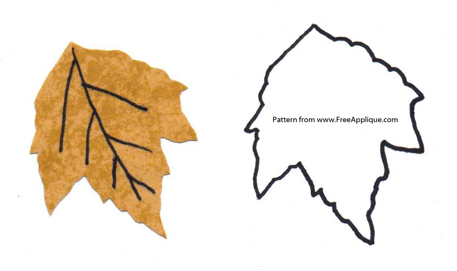 Printable Leaf Patterns for Applique, Quilting, Crafts or Clipart.