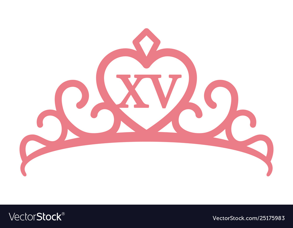 Quinceaera or quinceanera crown tiara pink.