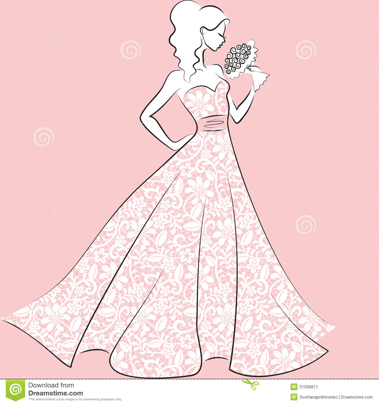 quinceanera purple dress clipart - Clipground