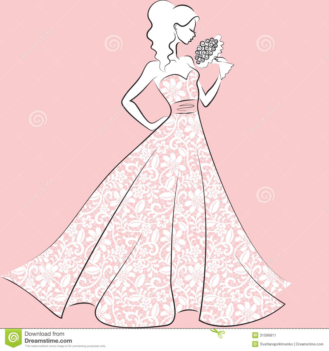 Quinceanera dress clipart.