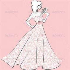 Vector Image for Quinceañera or Wedding Dress.