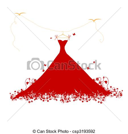 Quinceanera Dresses Clipart.