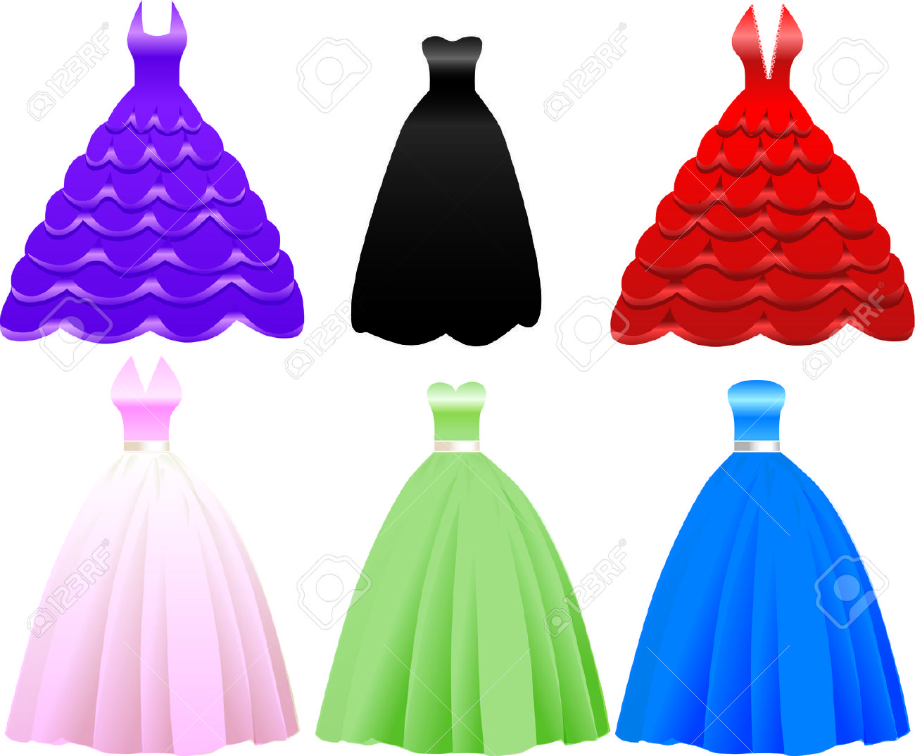 Quinceanera Purple Dress Clipart Clipground