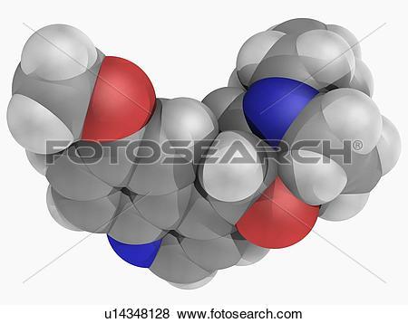 Stock Illustration of Quinine drug molecule u14348128.