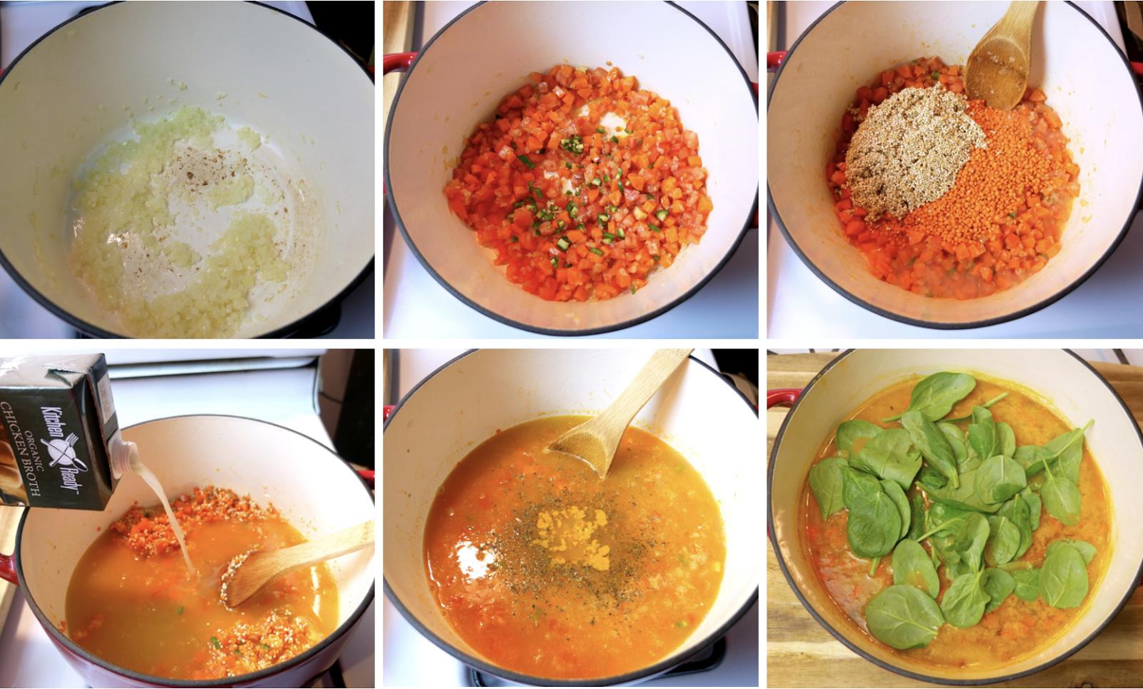 Mi Cocina Rápida: Red Lentil and Quinoa Soup.