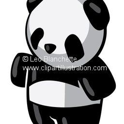 Clipart Illustration of Cute Little Asian Man, with Moustache.