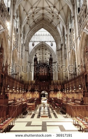York Minster Stock Images, Royalty.