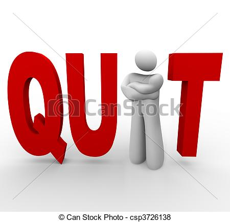 Quitting Clip Art and Stock Illustrations. 664 Quitting EPS.