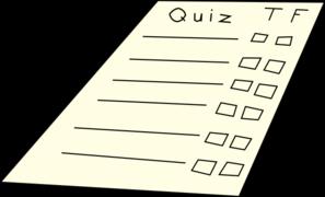 Quizzes Clipart.