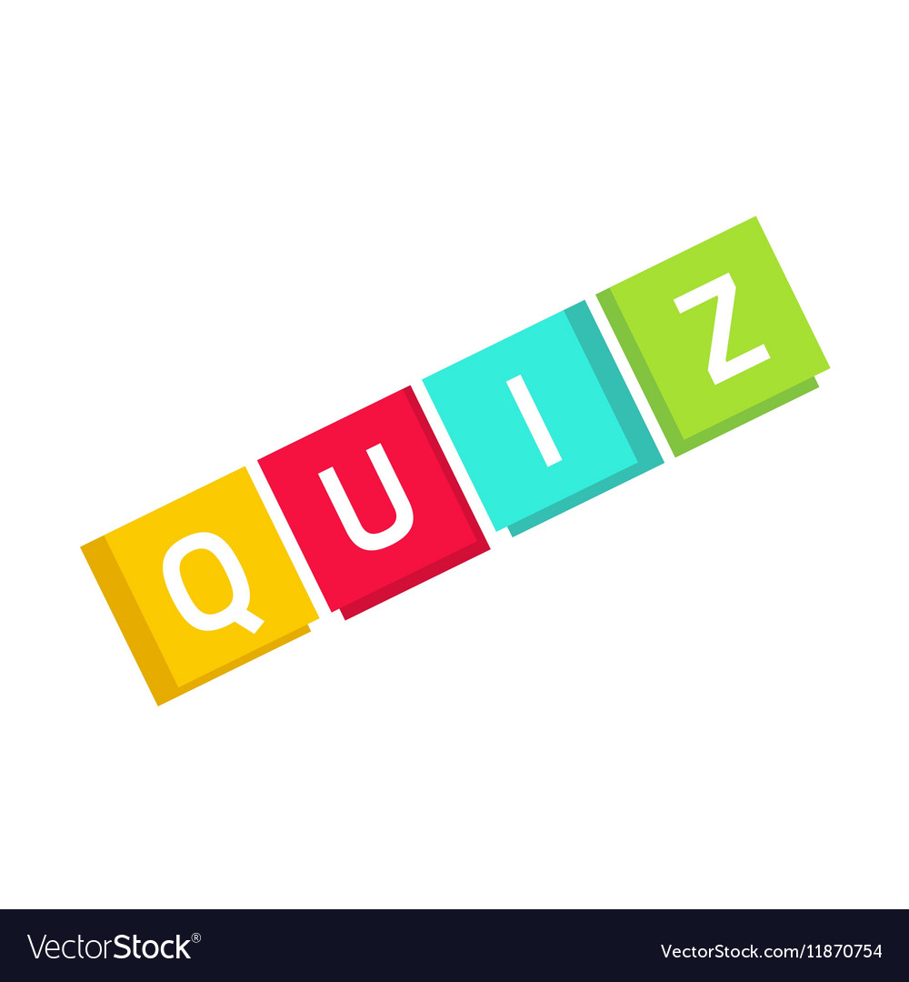 Quiz logo in cubes questionnaire show icon.