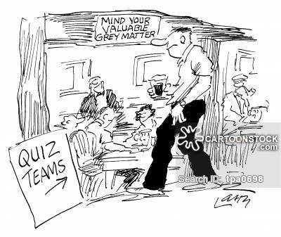Quiz Team Cartoons and Comics.