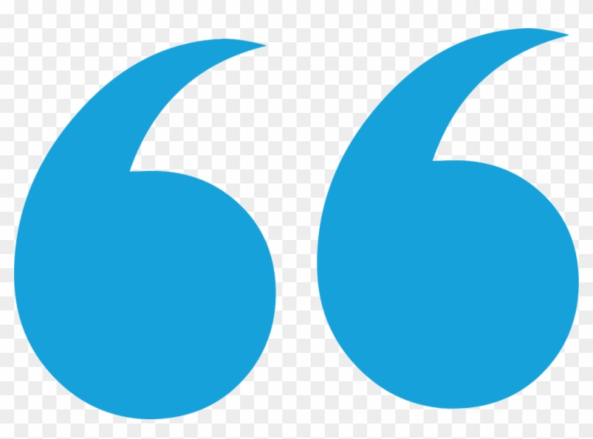 Blue Quotation Marks Png , Png Download.