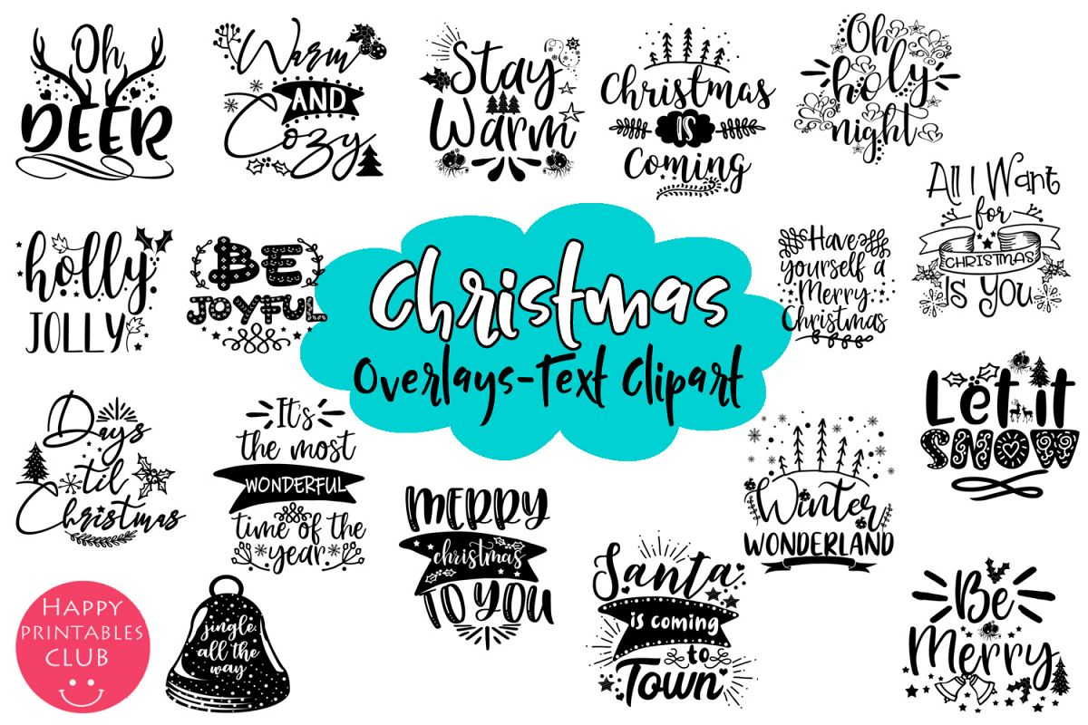 Christmas Quotes Overlays.