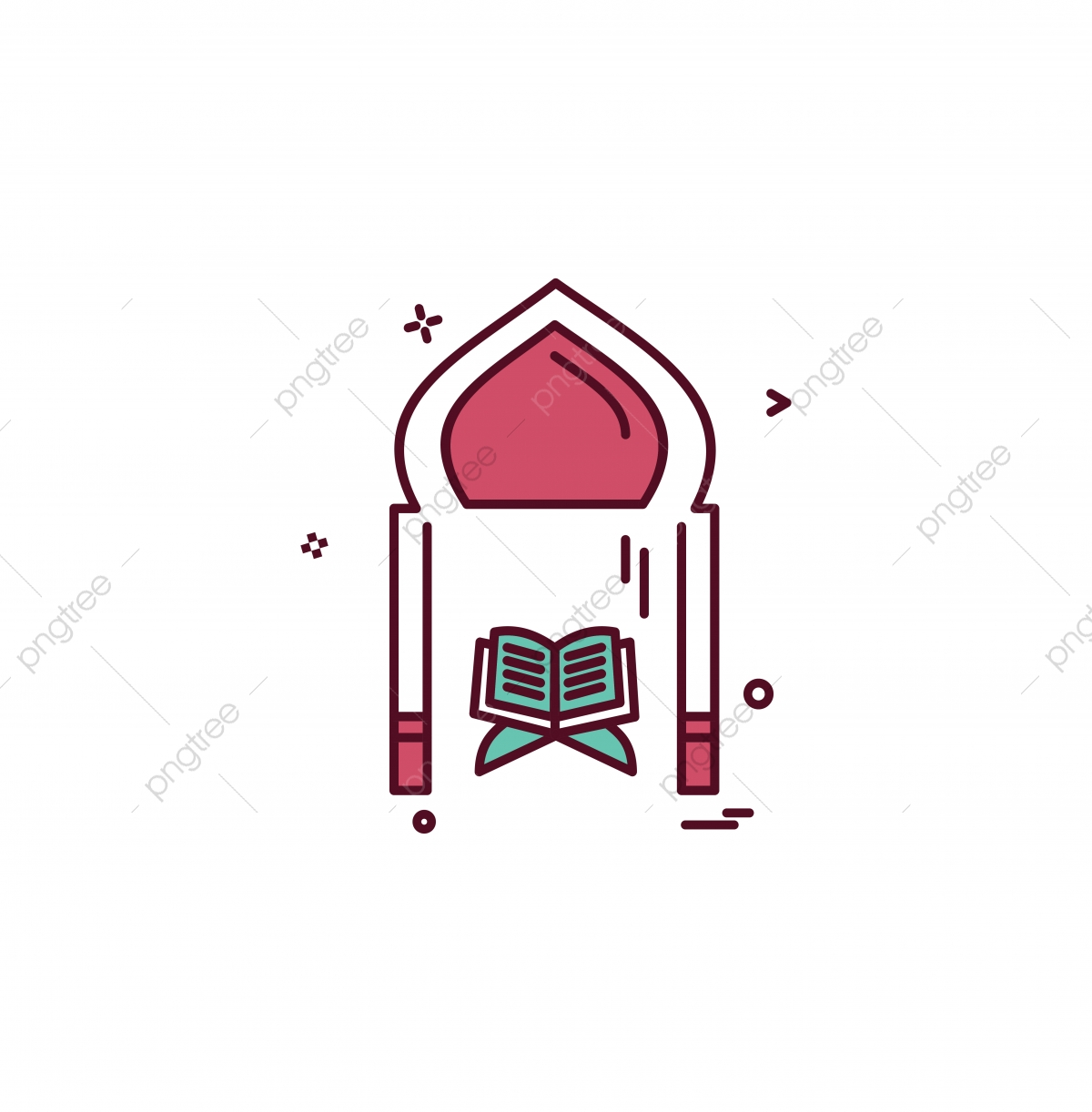 Holy Quran Icon Design Vector, Holy, Quran, Islam PNG and.