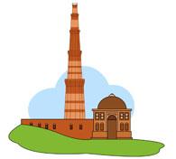 Qutub Minar Clipart.